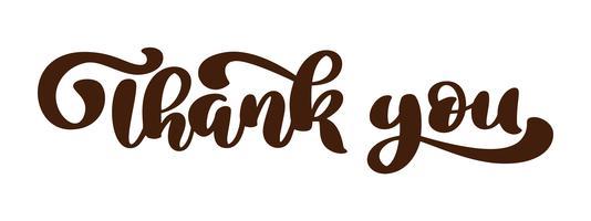 Danke, dass Sie Hand gezeichnete Textphrase. Beschriftungswortgraphik, Weinlesekunstdruck für Poster und Grußkarten entwerfen. Kalligraphisches Zitat in grüner Tinte. Vektorabbildung getrennt auf weißem Hintergrund