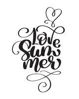 Hand gezeichneter Liebes-Sommer