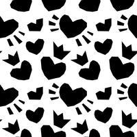valentin sömlösa hjärtan mönster