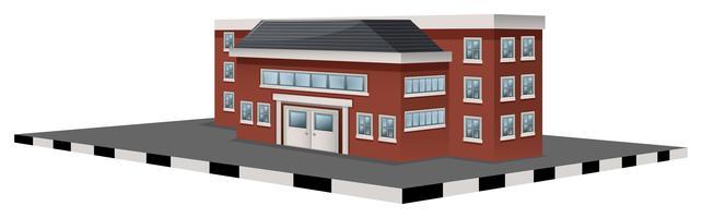 Skolbyggnad i 3D-design vektor