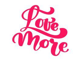 Liebe mehr elegante Grußkarte Design