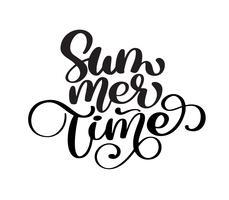 Hand gezeichnete Sommerzeit vektor