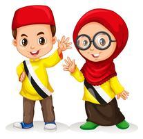 Jungen und Mädchen aus Brunei vektor
