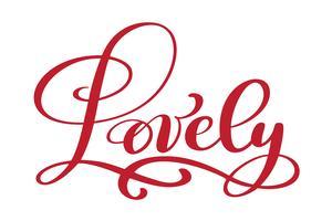 Härlig vykort vektor. Fras för alla hjärtans dag Bläckillustration. Modern pensel kalligrafi text. Isolerad på vit bakgrund