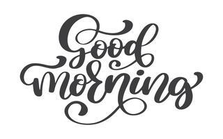 Handritad God morgon bokstäver text