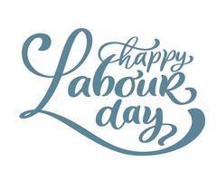 Glückliches 1. kann Vektorhintergrund beschriftend. Labor Day Logo-Konzept mit Schlüsseln. Illustration der internationalen Arbeitskräfte Tagesfür Grußkarte, Plakatdesign, lokalisiert auf weißem Hintergrund vektor