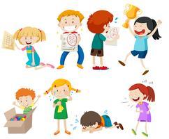 Set av barn scen