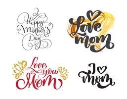 glücklicher Muttertag eingestellt vektor