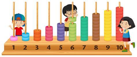 Barn som leker med abacus