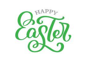 Hand gezeichnet, glückliche Ostern-Vektorillustration beschriftend vektor