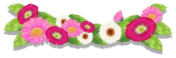 Bunte frische Blumen vektor