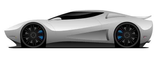 Superauto-Vektor-Illustration