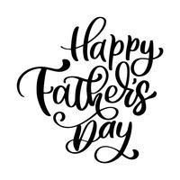 glückliche Vatertags-Satz Hand gezeichnete Beschriftungsväterzitate. Vector T-Shirt oder Postkartendruckdesign, Hand gezeichnete kalligraphische Textdesignschablonen des Vektors, lokalisiert auf weißem Hintergrund