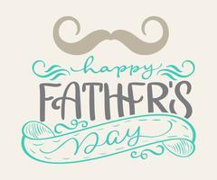 glücklicher Vatertag Handgezeichnete Schriftzüge Väter Zitate. Vector T-Shirt oder Postkartendruckdesign, Hand gezeichnete kalligraphische Textdesignschablonen des Vektors, lokalisiert auf weißem Hintergrund