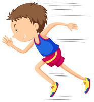 Man löpare löper i tävling