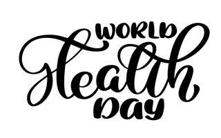Vektor illustration World Heart Day bokstäver citat