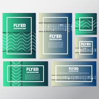 fräsch bakgrund flyer stil bakgrund Design mall vektor