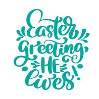 Handbeschriftung Ostern Gruß Er lebt