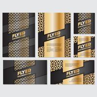 Guld banner bakgrund flyger stil Design mall