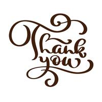 Danke, handschriftliche Aufschrift zu simsen. Handgezeichnete Schriftzug. Danke Kalligraphie. Danke dir Karte. Vektor-Illustration