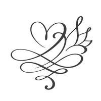 Herz Liebe Zeichen für immer. Unbegrenzt Romantisches Symbol verbunden, verbinden, Leidenschaft und Hochzeit. Vorlage für T-Shirt, Karte, Poster. Flaches Element des Designs des Valentinstags. Vektor-Illustration