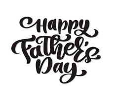 glückliche Vatertagssatz Handgezeichnete Schriftzüge des Vaters Zitate. Vector T-Shirt oder Postkartendruckdesign, Hand gezeichnete kalligraphische Textdesignschablonen des Vektors, lokalisiert auf weißem Hintergrund