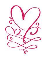 Herzliebeszeichen für immer für glücklichen Valentinstag. Unbegrenzt Romantisches Symbol verbunden, verbinden, Leidenschaft und Hochzeit. Vorlage für T-Shirt, Karte, Poster. Flaches Element entwerfen. Vektor-Illustration