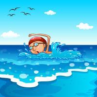 Schwimmen vektor