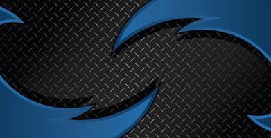 Blaues Rasiermesser Diamond Plate Textured Vector Background Illustration