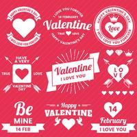Valentinsgrußschablonenfahne Vektorhintergrund für Fahne
