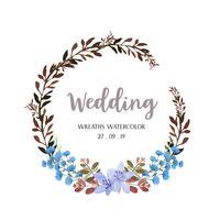 Kronor akvarellblommor handmålade med ram ram, frodiga floraler vattenfärg isolerad på vit bakgrund. Designdekor för kort, spara datum, bröllopinbjudningskort, affisch, banner.