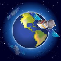 Satelliter som omger planeten