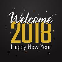 Gott nytt år bakgrund vektor bakgrund