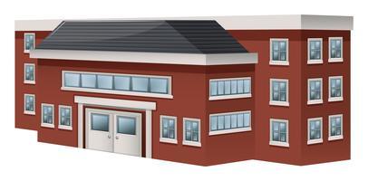 Byggdesign för skolan vektor