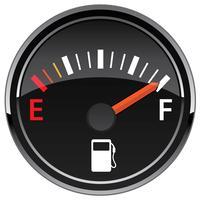 Gasbränsle Automotive Dashboard Mätare Vector