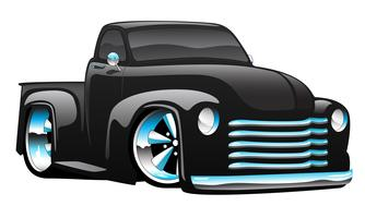 Heiße Rod Pickup Truck Cartoon-Vektor-Illustration