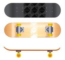 Skateboard mallar vektor