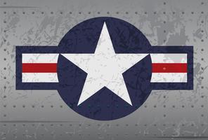 Militärflygplan Star Roundel Distressed Illustration