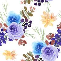 Muster-nahtloses üppiges Aquarellartweinlese-Textilgewebe, Blumenaquarell lokalisiert auf weißem Hintergrund. Entwerfen Sie Blumendekor für Karte, sparen Sie das Datum, Hochzeitseinladungskarten, Plakat, Fahne.