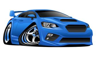 Moderne Import-Sport-Auto-Karikatur-Vektor-Illustration