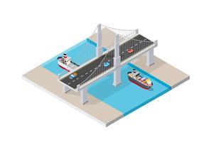 Die Brücke Skyway vektor