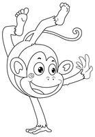 Tierumriss für Affen vektor