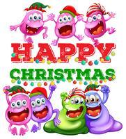 Weihnachtsthema mit Ausländern an der Party vektor