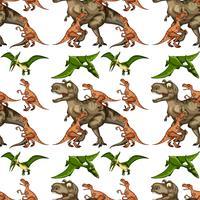 En dinosaur sömlös mönster vektor