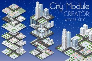Stadsmodul skapare isometrisk
