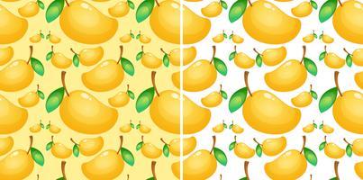 Sömlös bakgrund med färsk mango vektor