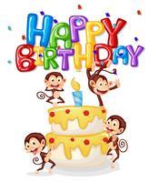 Alles Gute zum Geburtstagkarte des Affen vektor