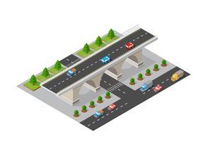 Broväggen av stadsinfrastruktur