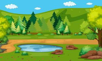 Szene mit Wasserloch im Park