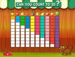 Att räkna till tio med olika frukter